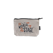 The World's A Stage Zipper Bag